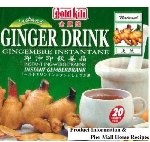 Großpackung 20 x 18g Instant Ingwer Getränk GOLD KILI Ginger Drink