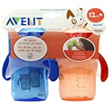 Philips AVENT BPA Free Natural Drinking Cup, Red and Blue, 9 Ounce, 2-Count (Discontinued by Manufacturer)