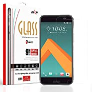 Zizo Tempered Glass Screen Protector for HTC 10 [Anti-Scratch] 9H Hardness [0.33 MM Thickness] Clear Screen Guard