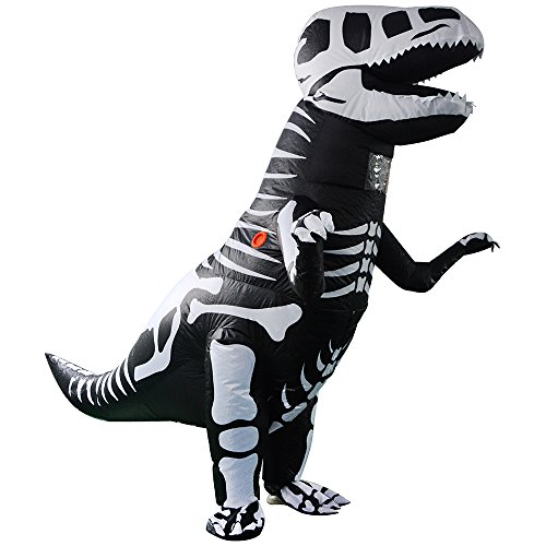 Dinosaur Costume Inflatable Brown Adult T-Rex Suit Perfect