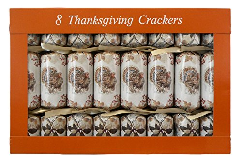 Thanksgiving Crackers - Box of 8 Traditional English Party Favors (Thanksgiving Turkey) (Thanksgiving Favors)