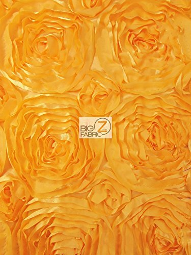 "ROSETTE STYLE TAFFETA FABRIC - GOLD - 58"" WIDTH - ONLY $13.99/YARD SOLD BTY"