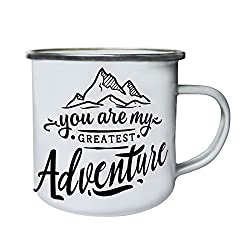 You Are My Greatest Adventure Retro,Tin, Enamel 10oz Mug s598e
