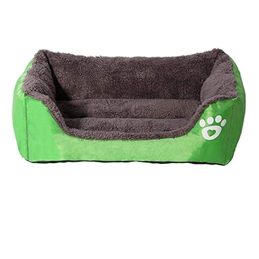 PENVEAT Mascota Cama para Perros Calentador Casa para Perros Nido de Material Suave Cestas para Perros Otoño e Invierno Perrera cálida para Cachorro de Gato, Verde, M: Amazon.es: Productos para mascotas