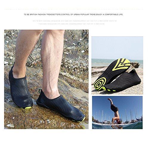 SAGUARO Badeschuhe Wasserschuhe Aquaschuhe Strandschuhe Schwimmschuhe Surfschuhe Barfuß Schuhe Für Herren Damen Black