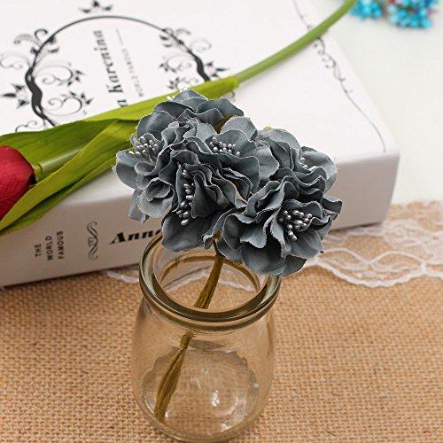 FLOWER Artificial Wedding Decoration Bouquet For DIY Scrapbooking Decorative Wreath Fake 30pcs/lot (gray)