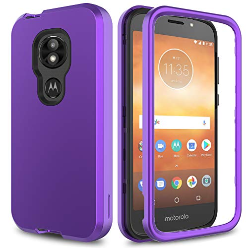 AMENQ Moto E5 Cruise Case, Moto E5 Play/Moto E5 Go Case Hybrid Heavy Duty Shockproof with Rugged Hard PC and TPU Bumper Protective Armor Phone Cover for Motorola Moto E Play (5th Gen) 2018 (Purple)