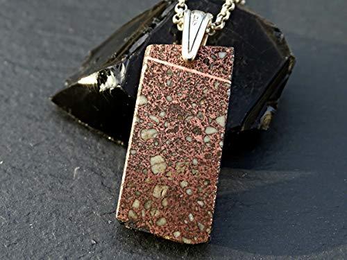 Alternate Brick - cool mens pendant copper brick, metal smelting pendant, molten copper pendant, unique mens jewelry, copper smelter pendant gift for men