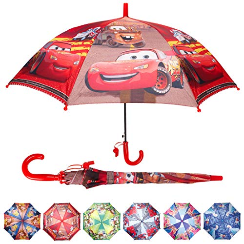 KANGYUAN Kids Cartoon Umbrella Pop up Umbrella Lightweight Windproof Bubble Umbrella for Kids Girls Boys (Car)