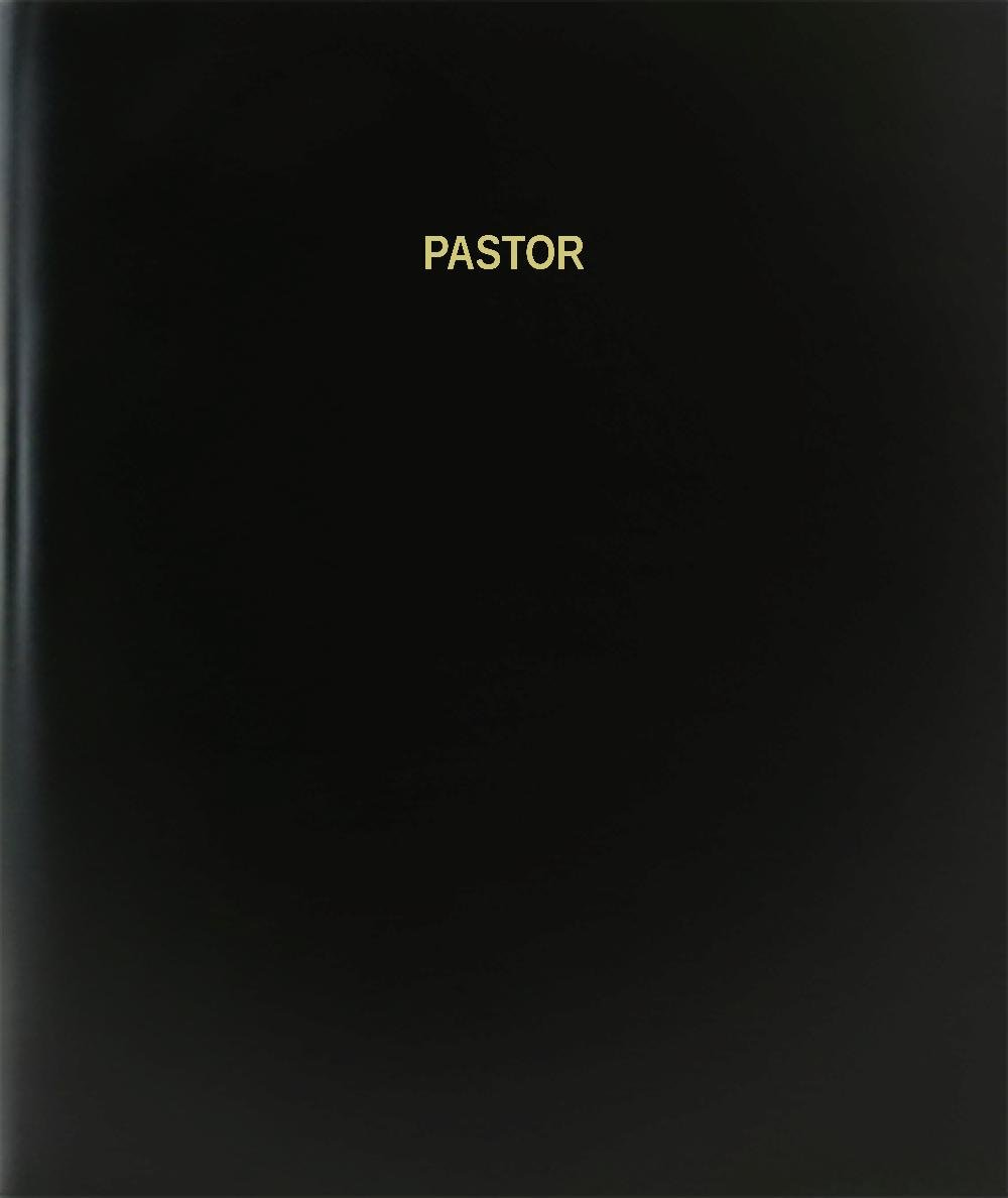 BookFactory® Pastor Log Book / Journal / Logbook - 120 Page, 8.5''x11'', Black Hardbound (XLog-120-7CS-A-L-Black(Pastor Log Book))