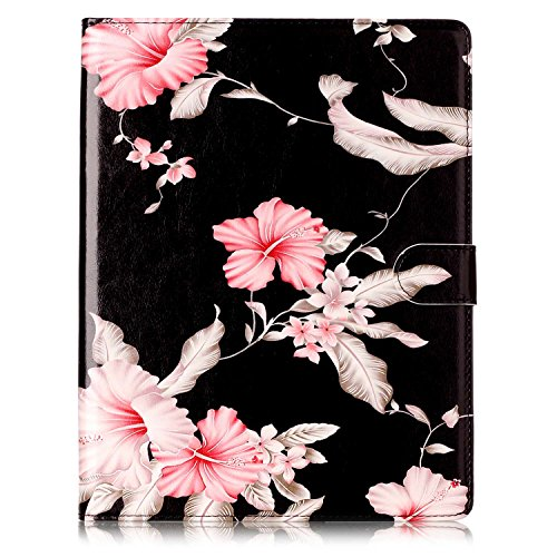 iPad 2/3/4 Case, Dteck(TM) Slim Flip PU Leather Wallet Case with Card Slots/Money Pouch Kickstand iPad Case Magnetic Closure Shell Full Body Protective Case Cover for Apple iPad 2 3 4,Pink Floral by Dteck (Image #2)