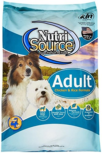 TUFFY'S PET FOOD 131101 Nutrisource Chicken/Rice Dry Food for Dogs, 18-Pound (Happy Pet Food)
