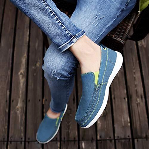 color Sky di uomo tela scarpe scarpe di Sky scarpe Estate di blue casual uomo Color da Blue Size tendenza da tela traspirante tela WangKuanHome Color 46 selvaggio denim qRAP8Bx