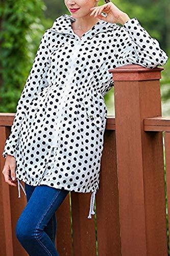 Pour Imperméables Femmes Taille Blanc Vestes Blanc couleur Oudan Grand ZFnqCOxxw