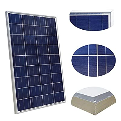 Best Cheap Deal for 100 Watt Solar Panel Polycrystalline Photovoltaic ZODORE PV Module 90mm cable with MC4 12V Battery Charging for RV Boat Caravan, camper or yacht, for off-grid / backup solar power systems 100 watt by ZODORE - Free 2 Day Shipping Availa
