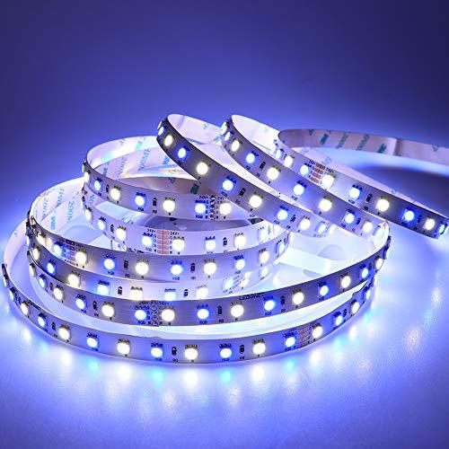 LEDENET LED Light Strip Super Bright RGBW RGB White Flexible 5M 360 LEDs one reel 5050 SMD Ribbon Lamps 24V Non-waterproof Tape Lighting ()