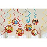 Amscan Set of 12 Daniel Tiger's Neighborhood Swirl Decorations bundled by Maven Gifts