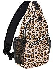 MOSISO Sling Backpack,Travel Hiking Daypack Pattern Rope Crossbody Shoulder Bag