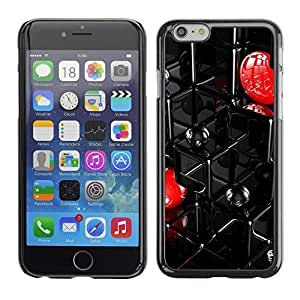 Mldierom Smartphone Protective Case Hard Shell Cover for Cellphone Iphone 6 Abstract Grid /