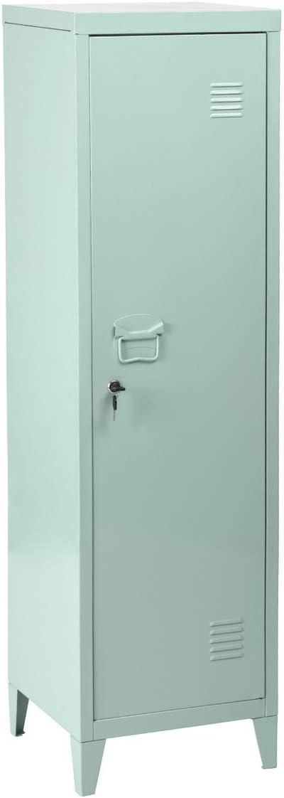 "FurnitureR Ready for School 54.1"" H Metal Locker Cabinet Storage Organizer Console Stand 3-in-1 Shelves Removable, Wardrobe,Mint Green"