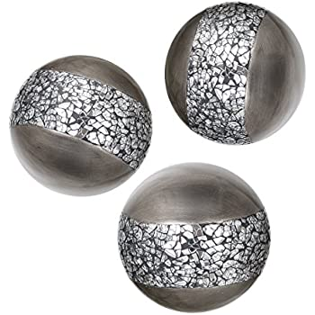 Amazon Creative Scents Schonwerk Silver Decorative Orbs For Adorable Decorative Orbs For Bowls