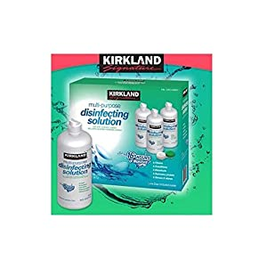 Kirkland Signature Multi-Purpose Sterile Solution for Any Soft Contact Lens, 3 Count ( 16 oz bottles )