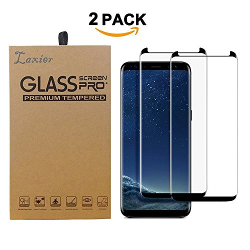 2 Pack Galaxy S8 Tempered Glass Screen Protector, 3D Curved Case Friendly Edge to Edge Full Coverage Protective Cover Film for Samsung S 8 Phone (for S8, not for S8 Plus)