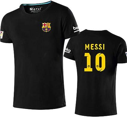 Shocly Camiseta de Manga Corta con diseño de 10 Messi Barcelona ...