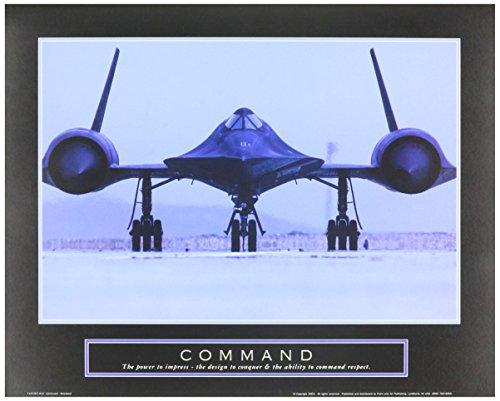 WallsThatSpeak Command Blackbird SR71 Air Force Motivational Poster, 10 x 8-Inch, Grey
