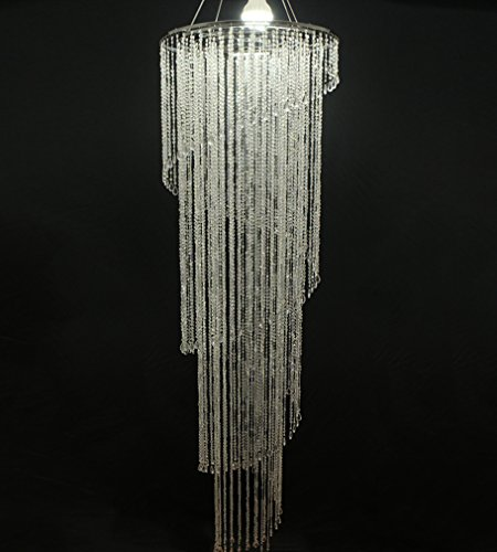 Modern Swirl Chandeliers Acrylic Beads Ceiling Chandelier for Living Room Wedding Party Decorations 70.86