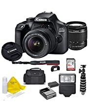 Canon EOS 4000D DSLR Camera w/Canon EF-S 18-55mm F/3.5-5.6 III Zoom Lens + Case + 32GB SD Card+ More+ TopKnotch Cloth