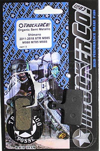 Organic Semi-Metallic brake pads Shimano 2011-2015 XTR, XT, SLX, deore, BR-M9020 trail, BR-M9000 race, BR-M987, BR-M985, BR-M988, BR-M785, RS785, R785, S700 alfine, RS685, BR-M675, BR-M666, BR-M615, BR-M610, Di2 Ultegra Road ()
