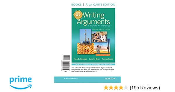 writing arguments a rhetoric with readings concise seventh edition