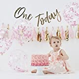 Ginger Ray Pink Gold Girls First Birthday Cake Smash Birthday Party Kit - Pink - Pick & Mix