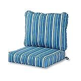 Greendale Home Fashions Deep Seat Cushion Set in Coastal Stripe, Sapphire