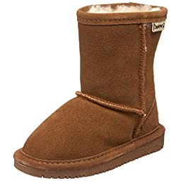 BEARPAW Emma 608T Shearling Boot (Toddler/Big Kid),Hickory II,8 M US Toddler
