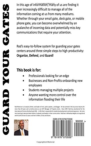 Guard Your Gates: The Guard Your Gates Keys to High Productivity: Rod  Patterson, Brian Francis (PHAZION): 9781976070556: Amazon.com: Books