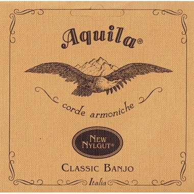 (AQUILA Classic Banjo String Set, 2-B, Light Tension, Red Series 4th)