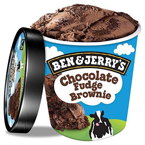 Ben & Jerrys Chocolate Fudge Brownie Helado 500ml (Libre de lácteos) (Pack de
