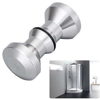 Tencro ducha puerta par mango Perilla pulido sólido mango de acero inoxidable Protector de redondo para puerta de baño pomo (30 mm, 1 par)