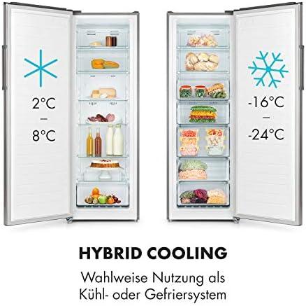 KLARSTEIN Iceblokk Hybrid Congelador - 4 Estrellas, NoFrost, Clase ...