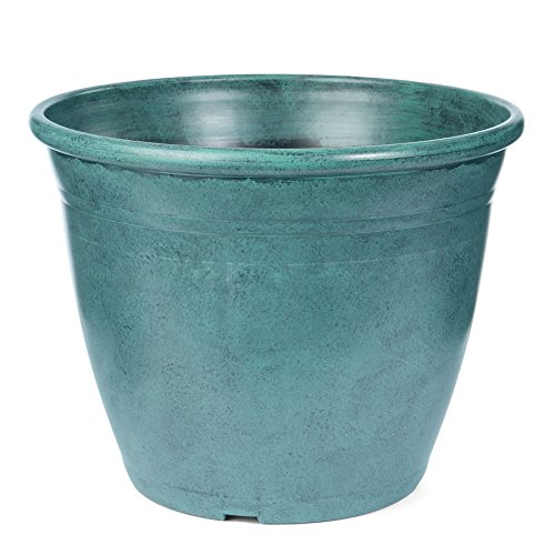 Skalny Patina Round Polypropylene Planter, 16 x 12.25 - Jar Urn Planter