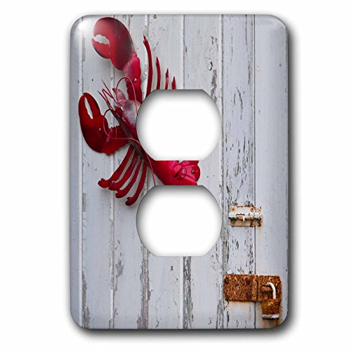 3dRose Danita Delimont - Objects - USA, Maine, Freeport, lobster pound, lobster toys - Light Switch Covers - 2 plug outlet cover - Freeport Maine Outlets