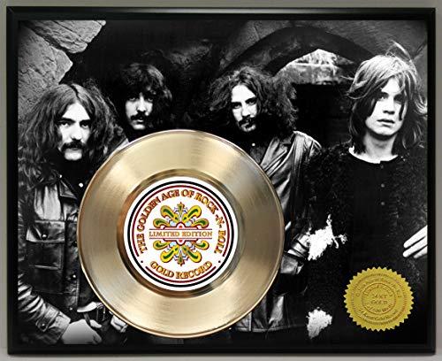 G.A.R.R. Black Sabbath Gold Record Poster Art Limited Edition Commemorative Music Memorabilia Display Plaque -