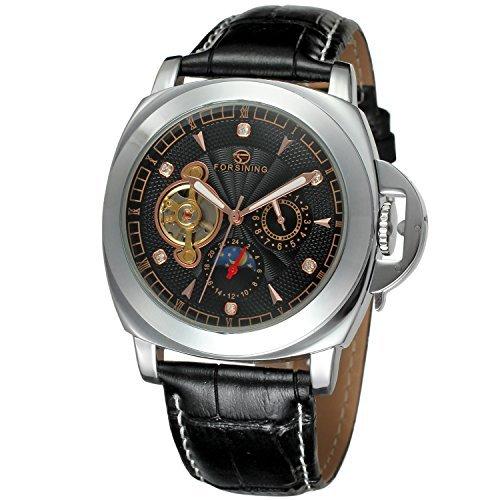 FORSININGメンズスタイリッシュスタイル自動自動巻きムーンフェーズWrist Watch withブランドレザーfsg005 m3s5 B00T5J77LM