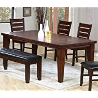 Coaster 101881 882 883 Dining Table Chairs Bench 6Pc Set In Rustic Oak