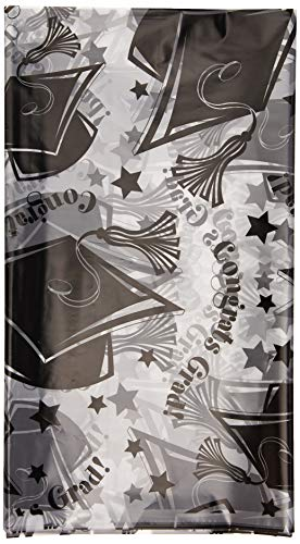 amscan Graduation Party Tablecover, Clear Plastic, 54
