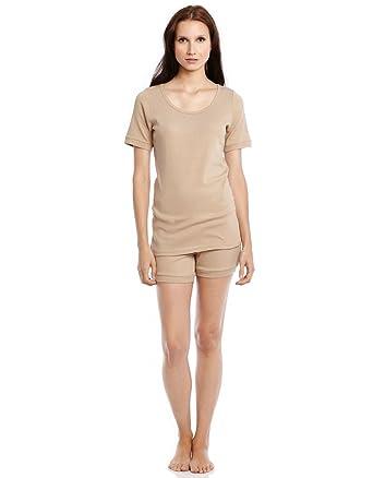 Leveret Women s Pajamas Shorts 2 Piece Pjs Set 100% Cotton Sleep ... 9f3460923