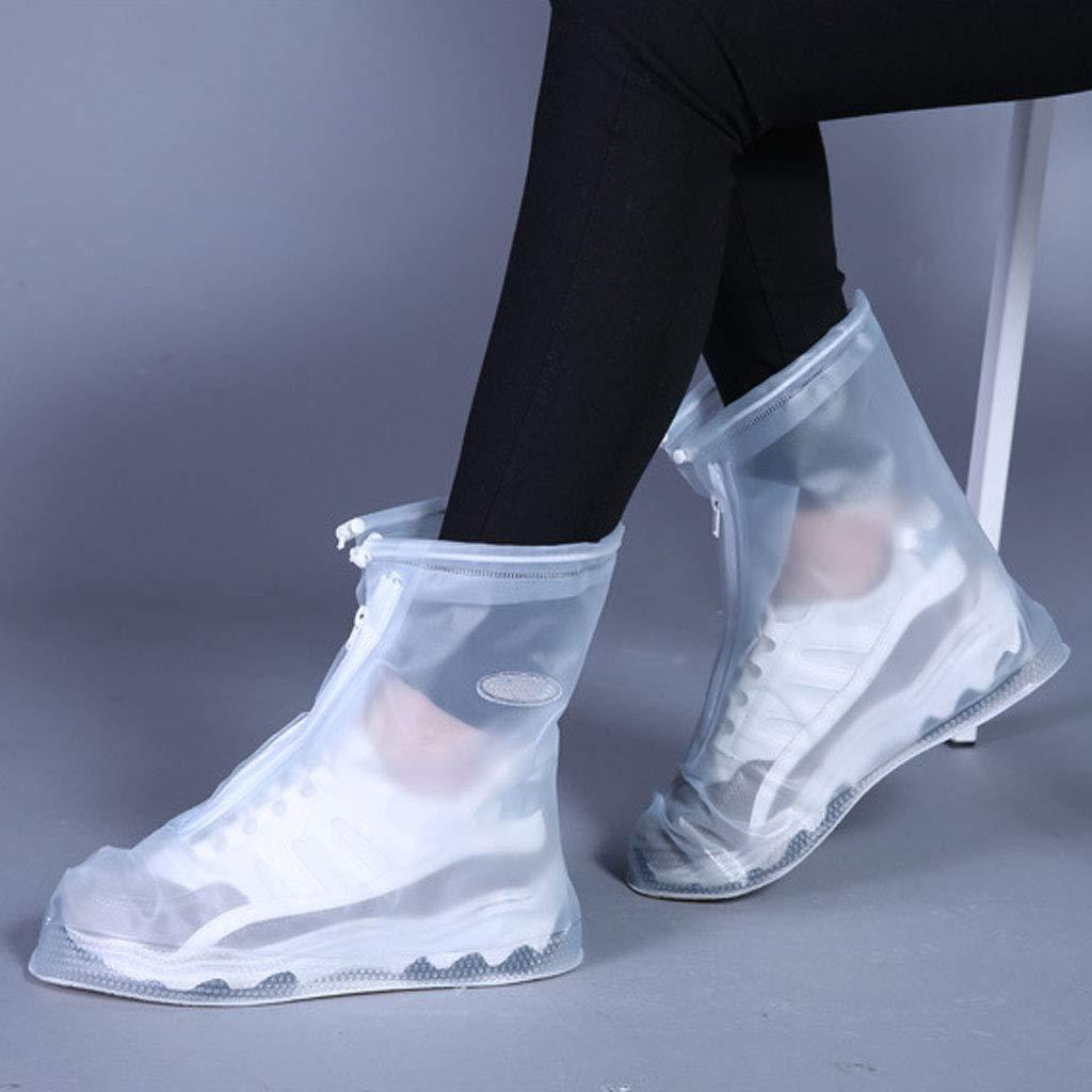 FixWout Waterproof Bike Motorcycle Shoe Covers Reusable Rain Snow Shoes Overshoes Gear Zipped Boot Men//Women Rain Shoes Covers