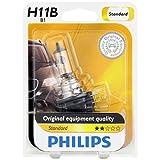 Philips H11B Standard Halogen Replacement Headlight Bulb, 1 Pack